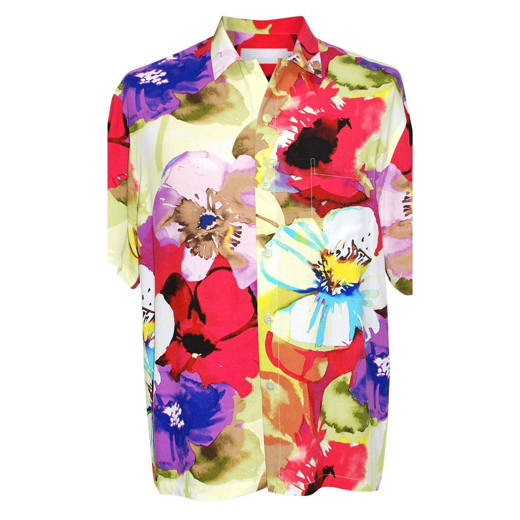 Men's Retro Shirt - Flower Splash - jamsworld.com