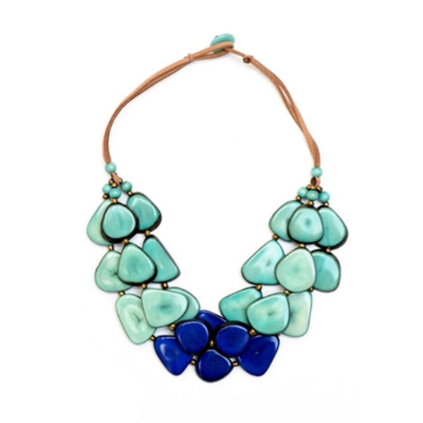 Tagua - Alma Necklace Azul Royal Blue Turquoise Color Combo