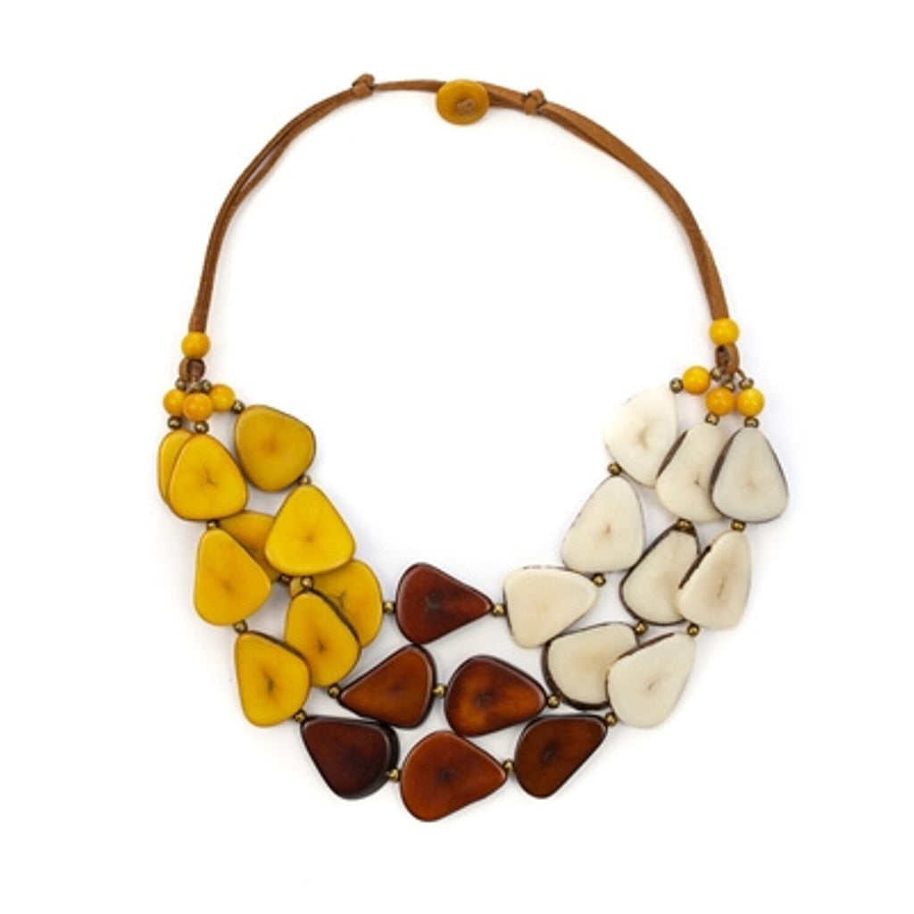 Tagua - Alma Necklace Chestnut Brown Color Combo