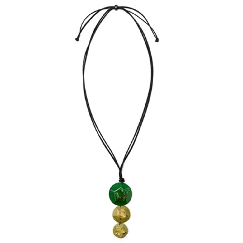 Tagua - El Sol Necklace Forest Green Olive Green
