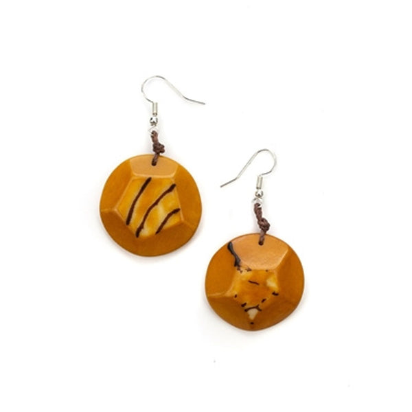 Tagua - El Sol Earrings Yellow/Orange