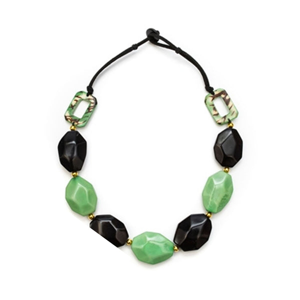 Tagua - Pichincha Necklace Mint Black