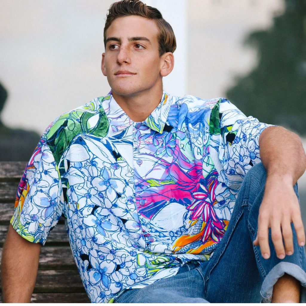 Men's Retro Shirt - Grandiflora - jamsworld.com