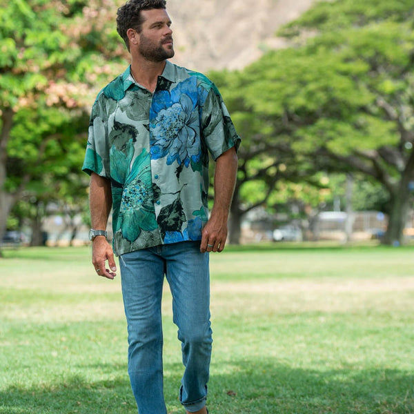 Men's Retro Shirt - Meadow Mist - jamsworld.com