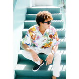 Men's Retro Shirt - Fiori White - jamsworld.com