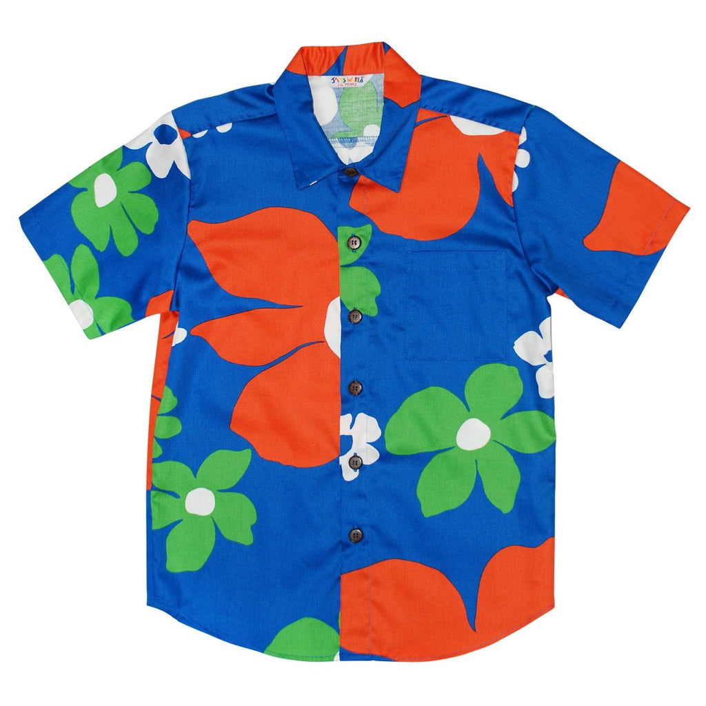Boys Retro Shirt: XS(4/5 - L(12/14) - Tradewinds Blue - jamsworld.com