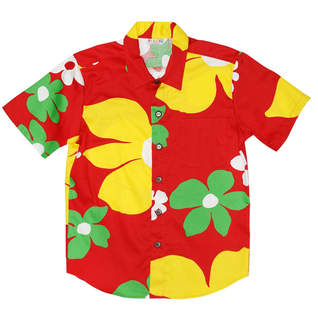 Boys Retro Shirt: XS(4/5 - L(12/14) - Tradewinds Red - jamsworld.com