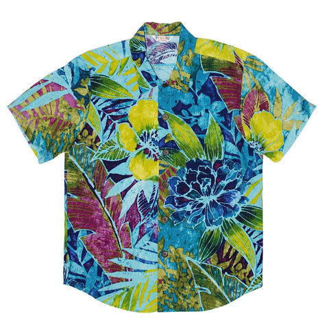 Boys Rayon Shirt: XS(4/5 - L(12/14) - Rain Tropic