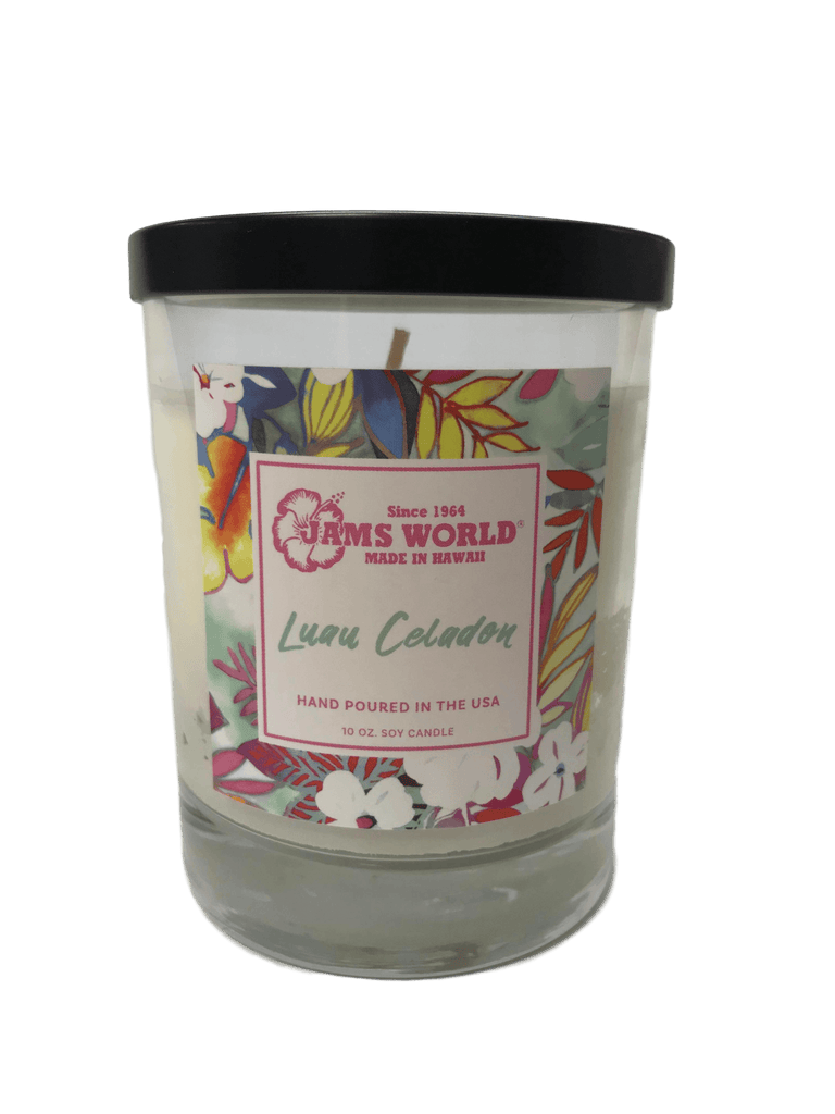 Candle 10oz Glass Bottle - Luau Celadon - jamsworld.com