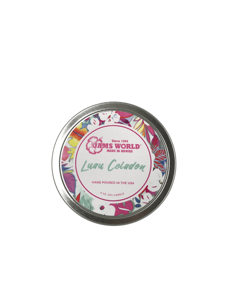 Candle 4oz Tin - Luau Celadon - jamsworld.com