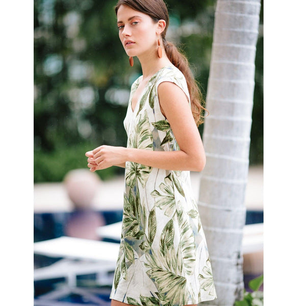 Sherry Dress - Kona Coast Olive - jamsworld.com