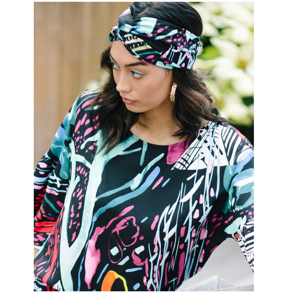 Illusion Hawaiian Print Beach Wrap - jamsworld.com