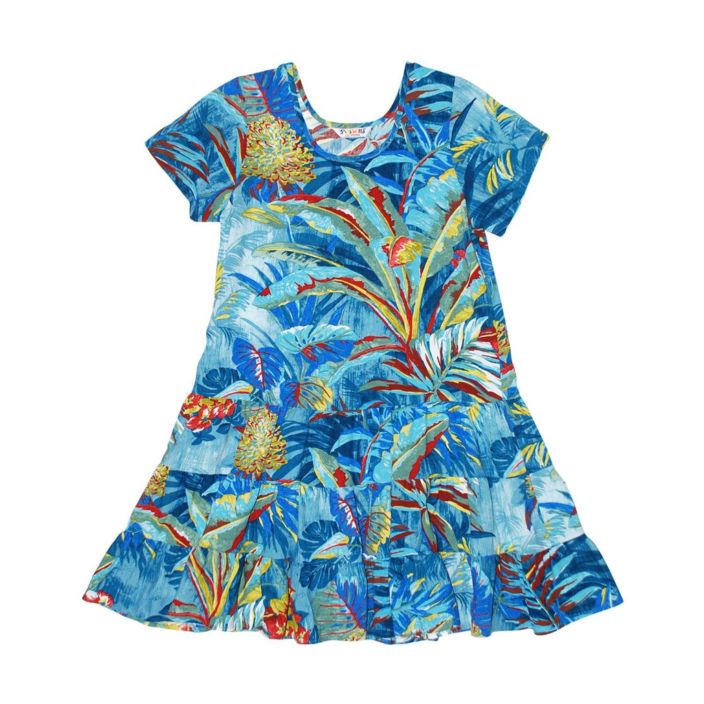 Girls:  XS(4/5) - L(12/14) Hattie Dress - Kamuela - jamsworld.com
