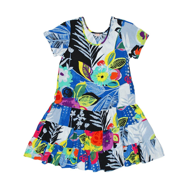 Girls:  XS(4/5) - L(12/14) Hattie Dress - Tropical Love - jamsworld.com