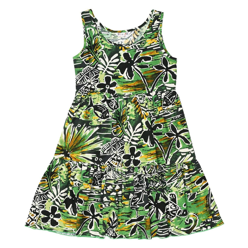 Girls' Janice Dress - Honu Island Green - jamsworld.com