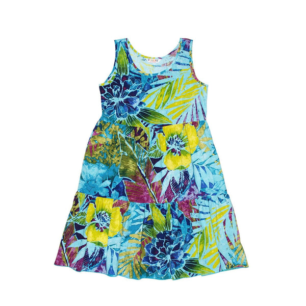 GIRLS Janice Dress  XS (4/5) - L (12/14) - Rain Tropic - jamsworld.com