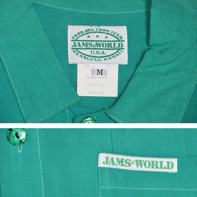 1990's Jams World Solid Rayon Shirt - jamsworld.com