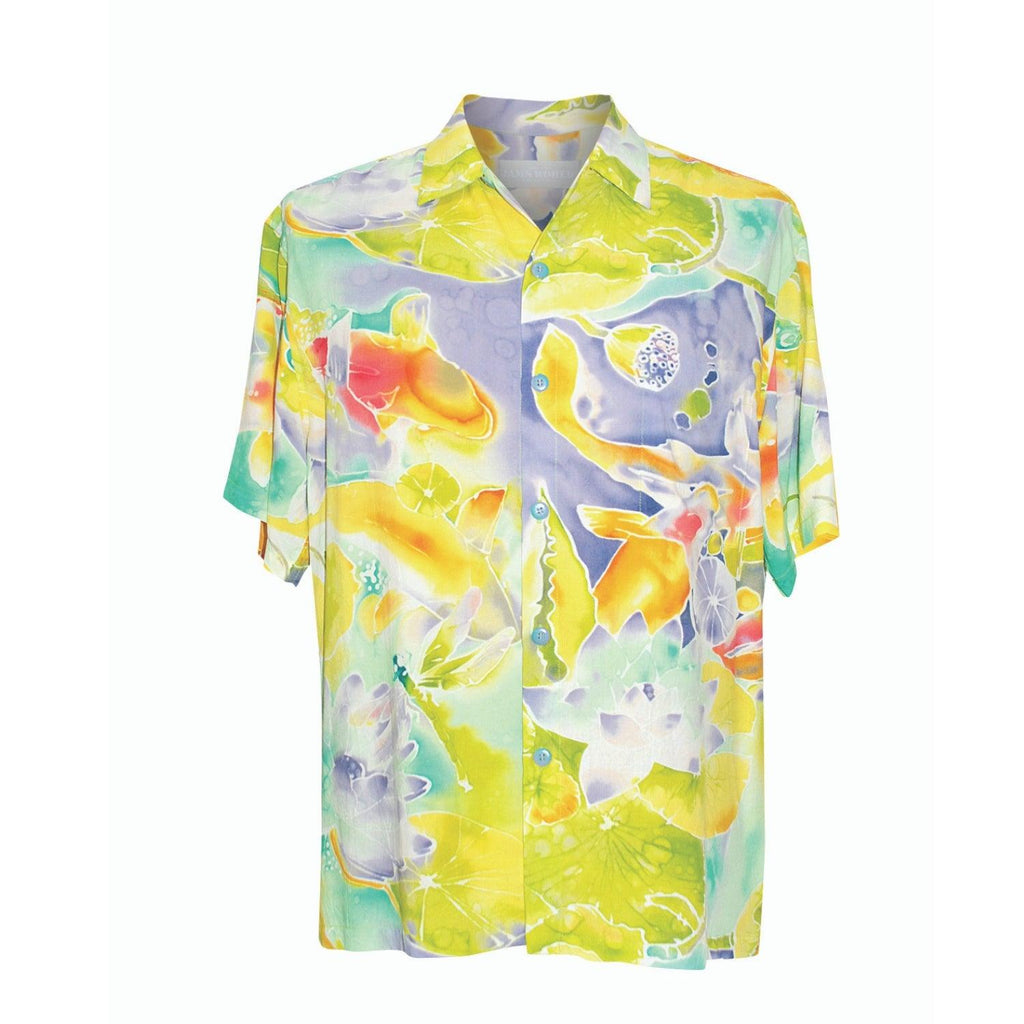Men's Retro Shirt - Koi Pond - jamsworld.com