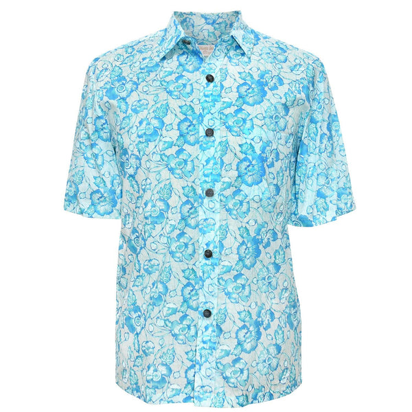 Men's Cotton Shirt - Pop Aqua