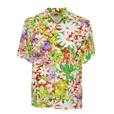 Men's Retro Shirt - Daisy Patch Red
