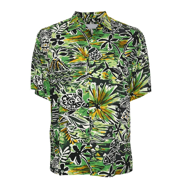 Men's Retro Shirt - Honu Green
