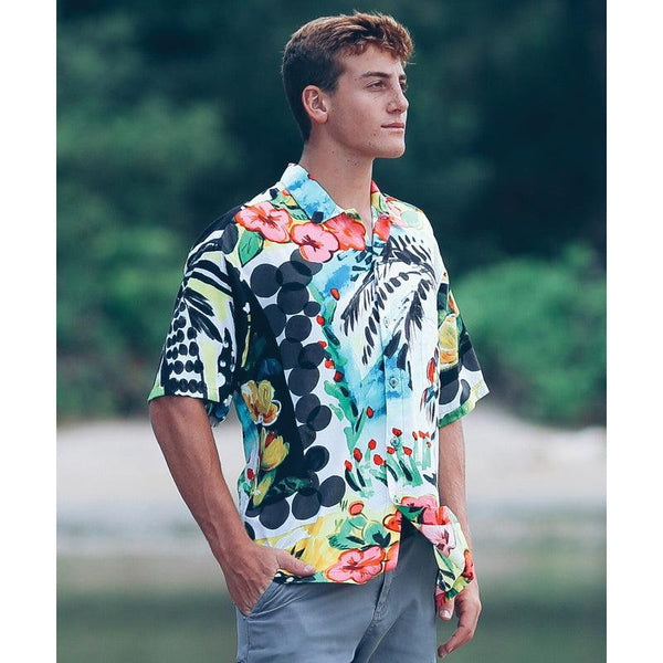 Men's Retro Shirt -  Parrot Cove - jamsworld.com