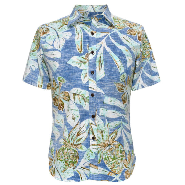 Men's Archival Collection Modern Fit Shirt - Kawaiiki Blue Reverse