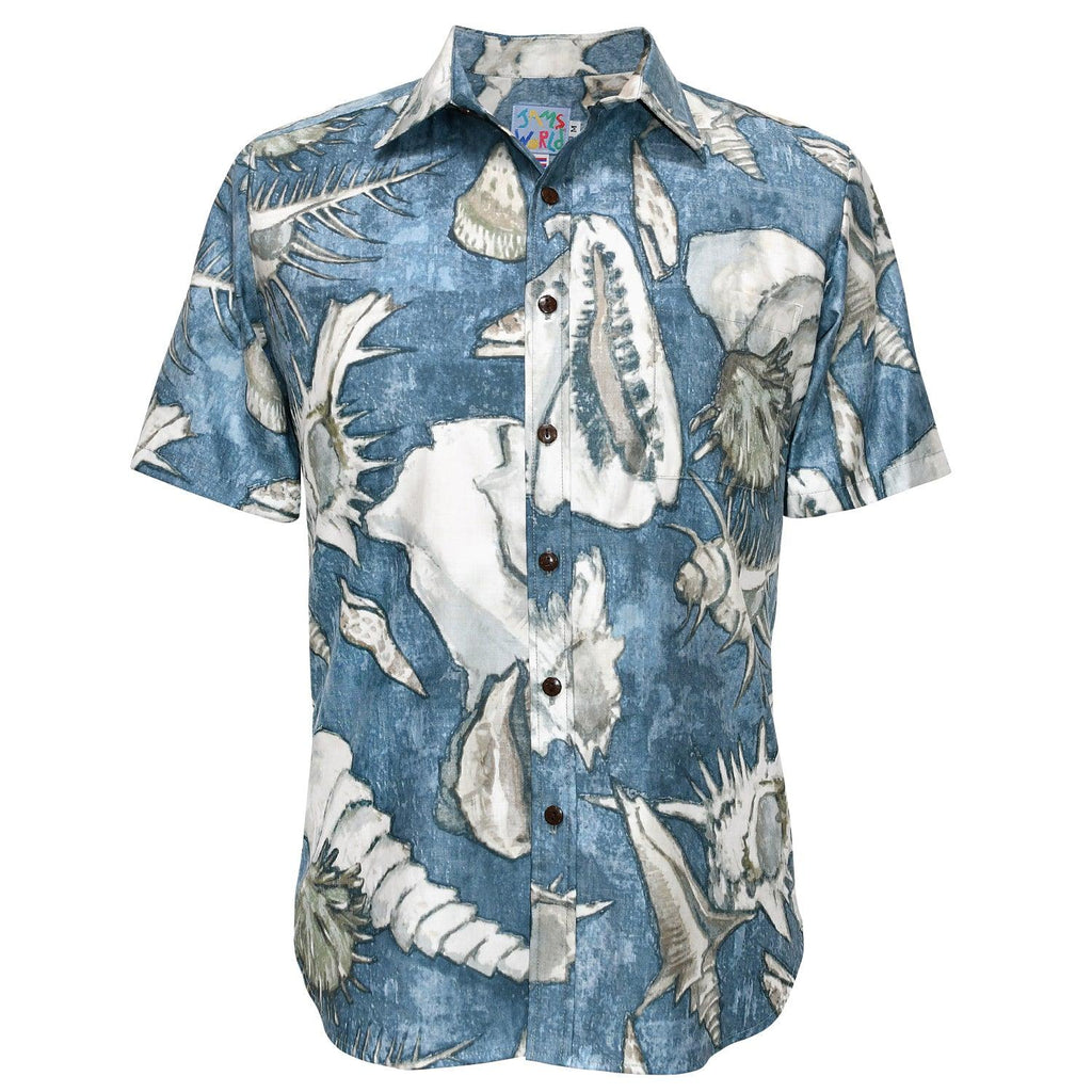 Men's Archival Collection Modern Fit Shirt - Seashore Navy Reverse - jamsworld.com