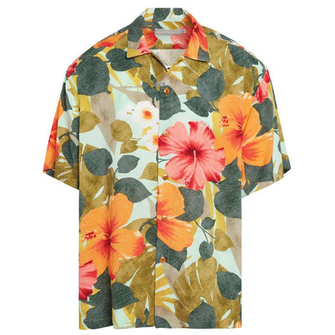 Men's Retro Shirt - Hibiscus Palm