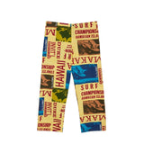 Men's Jams Pants - Surf Contest Yellow - Surf Line Hawaii
