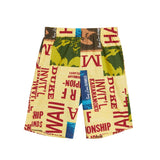 Men's Super Jams - Surf Contest Yellow - Surf Line Hawaii