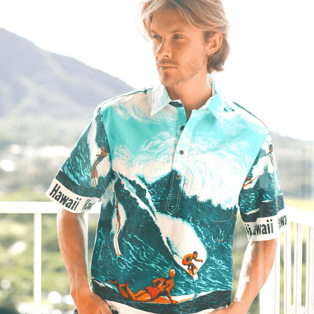 Men's Cotton Pullover Shirt - Big Wave - jamsworld.com