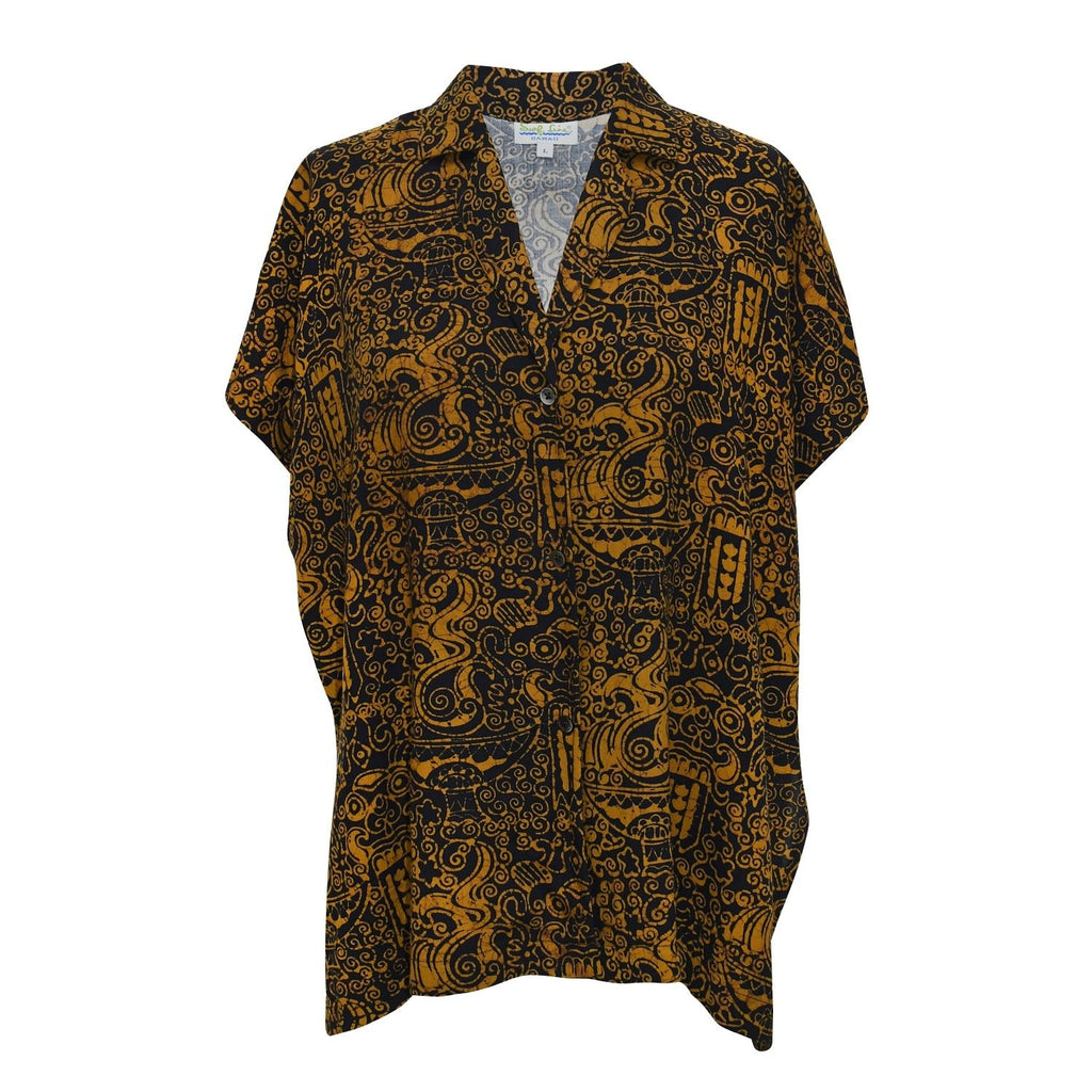 Women's Rayon Top - Black & Gold