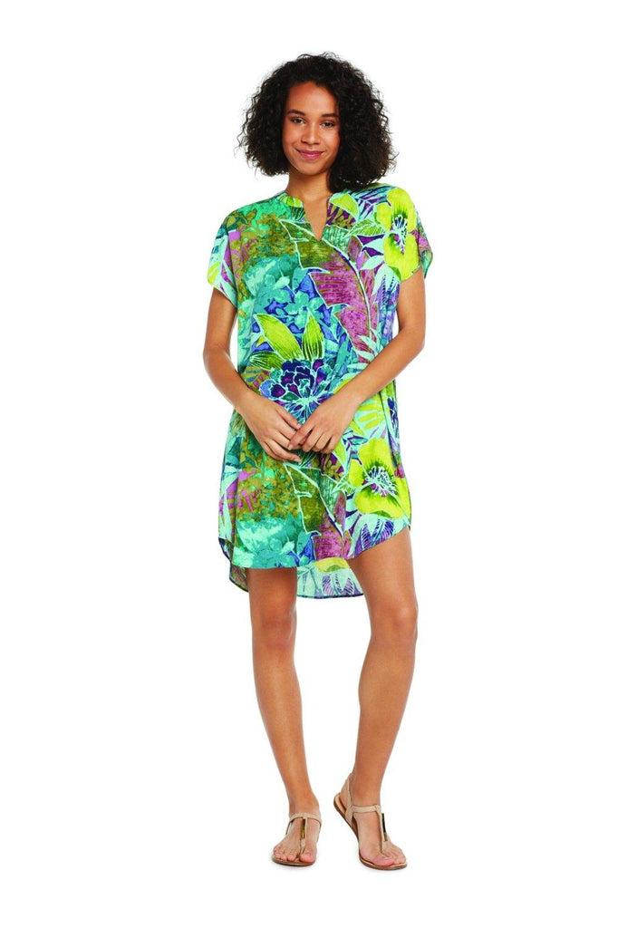 Sofia Dress - Rain Tropic