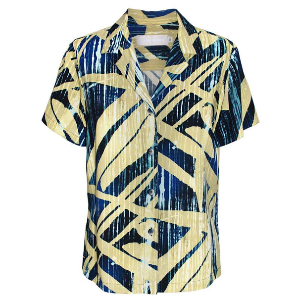 Print Top - Wood Grove Navy