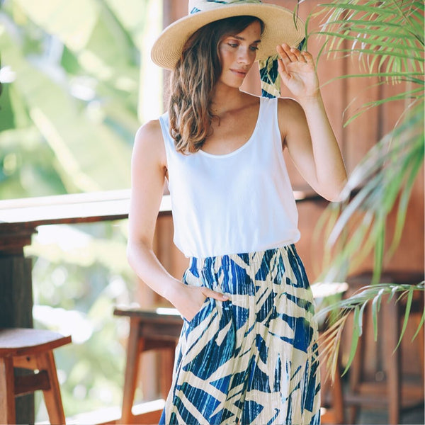 Wide Leg Crop - Wood Grove Navy