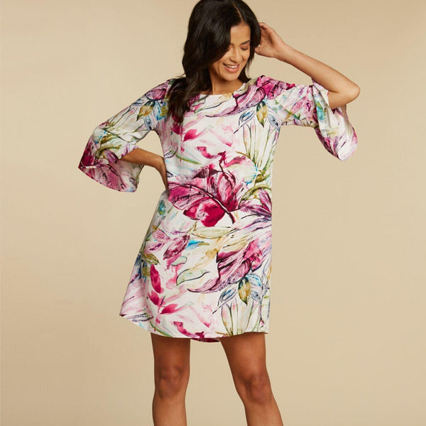 Harper Dress - Wind Palm
