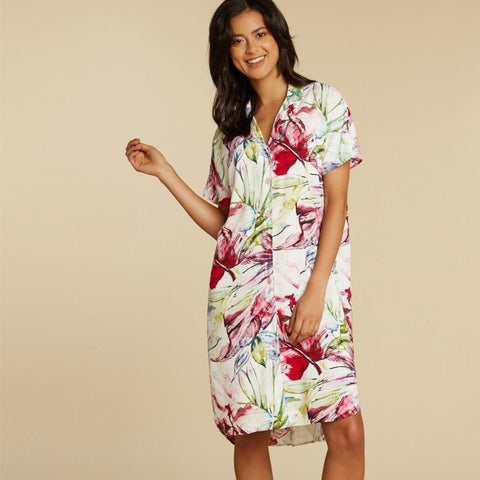Shirt Dress - Wind Palm