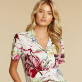Print Top - Wind Palm