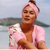 'Akala (Pink) Hawaiian Print Beach Wrap - jamsworld.com