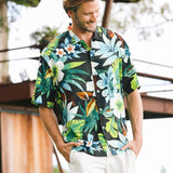 Men's Retro Shirt - Waiola Black - jamsworld.com