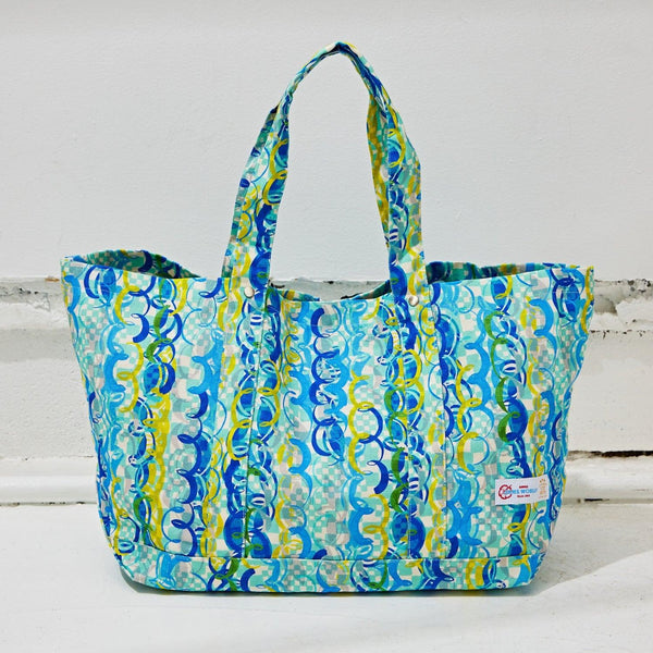 Flanders Tote Bag Large - Ocean Party - jamsworld.com