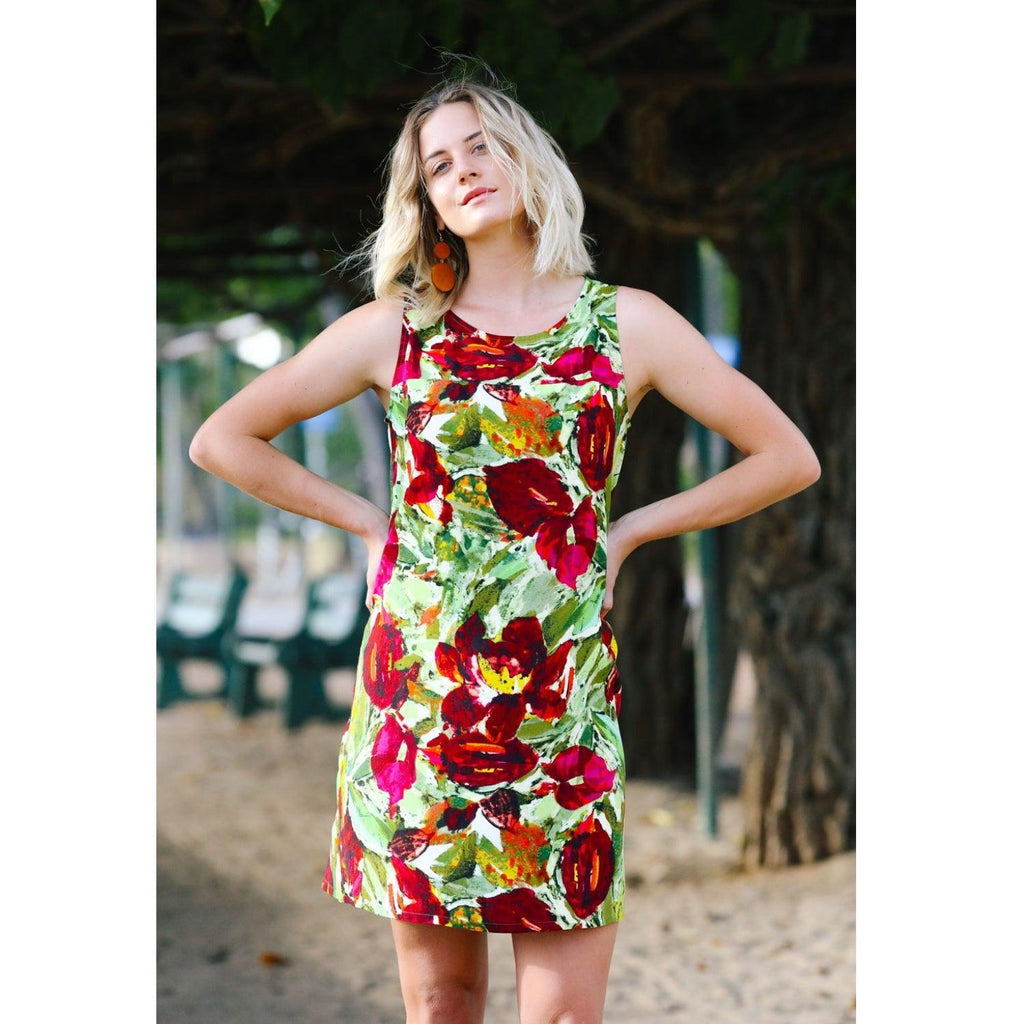 Jackie Dress - Anthurium - jamsworld.com