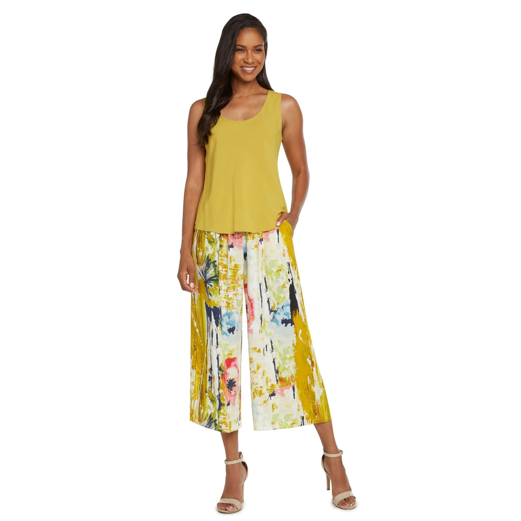 Wide Leg Crop - Spring Rush