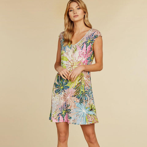 Sherry Dress - Sea Leaf