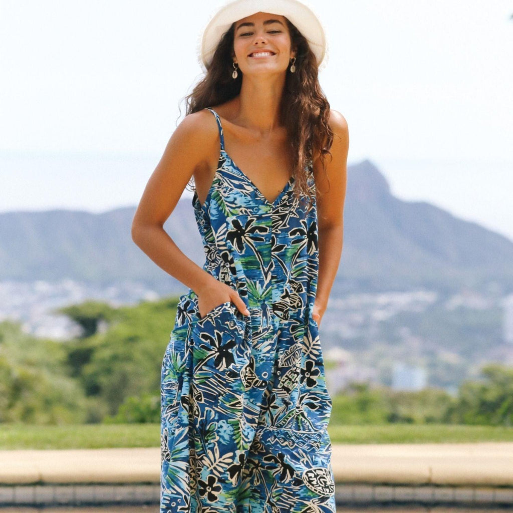 Easy Jumpsuit - Honu Island Blue