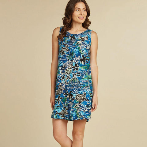 Jackie Dress - Honu Island Blue