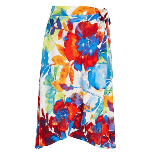 It's A Wrap Skirt - Spring Sky