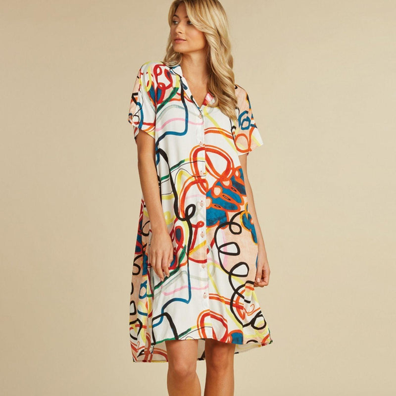 Shirt Dress - Loop De Loop