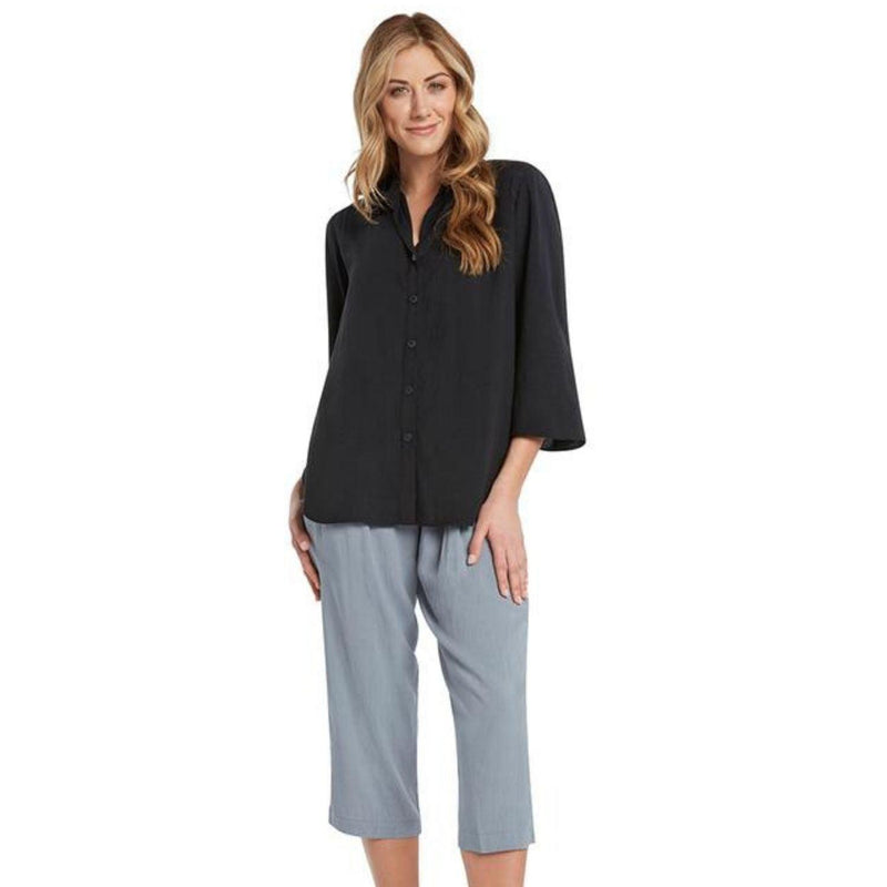 Solid Coastal Tunic - Black